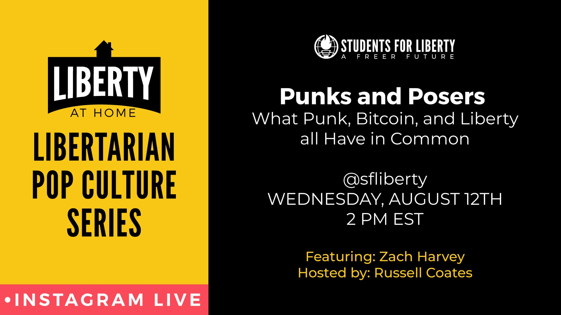 Punks and Posers: What Punk, Bitcoin, and Liberty all Have in Common. Instagram Live interview with Zach Harvey