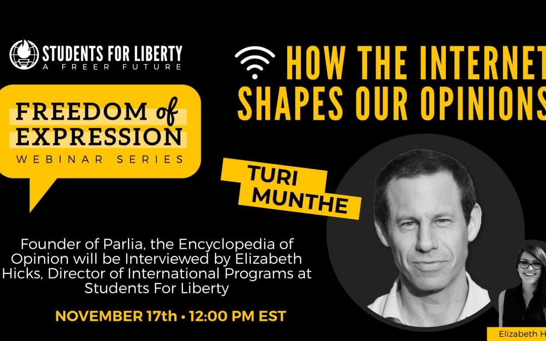 How the Internet Shapes Our Opinions, with Turi Munthe